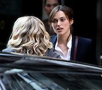 July 12, 2012  Keira Knightley shooting on location for new VH-1 movie Can a Song Save Your Life? in New York City. &copy; RW/MediaPunch Inc. /*NORTEPHOTO*<br /> **SOLO*VENTA*EN*MEXICO**<br /> **CREDITO*OBLIGATORIO** <br /> **No*Venta*A*Terceros**<br /> **No*Sale*So*third**<br /> *** No*Se*Permite Hacer Archivo**<br /> **No*Sale*So*third**