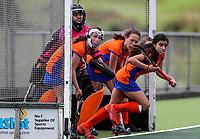 Hawkes Bay v Tauranga. Action during the U-15 Premier Girls Hockey Nationals. North Harbour Hockey, Auckland, New Zealand. Monday 4 October 2017. Photo:Simon Watts / www.bwmedia.co.nz