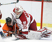 ?, Ryan Carroll (Harvard - 35) - The Princeton University Tigers defeated the Harvard University Crimson 2-1 on Friday, January 29, 2010, at Bright Hockey Center in Cambridge, Massachusetts.
