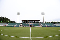 Cary, North Carolina  - Wednesday May 24, 2017: View of the west stand of Sahlen's Stadium prior to a regular season National Women's Soccer League (NWSL) match between the North Carolina Courage and the Sky Blue FC at Sahlen's Stadium at WakeMed Soccer Park. The Courage won the game 2-0.