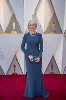 Helen Mirren arrives on the red carpet of The 90th Oscars&reg; at the Dolby&reg; Theatre in Hollywood, CA on Sunday, March 4, 2018.<br /> *Editorial Use Only*<br /> CAP/PLF/AMPAS<br /> Supplied by Capital Pictures