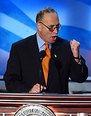 Boston, MA - July 29, 2004 -- United States Senator Chuck Schumer (Democrat of New York)  speaks at the 2004 Democratic National Convention in Boston, Massachusetts .Credit: Ron Sachs / CNP