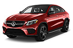 2018 Mercedes Benz GLE-Class Coupe GLE43 AMG 4MATIC 5 Door SUV angular front stock photos of front three quarter view