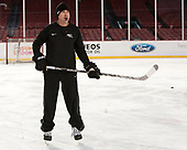 Nate Leaman (PC - Head Coach) - The Providence College Friars practiced on the rink at Fenway Park on Friday, January 6, 2017.