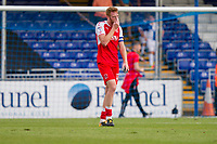 Cian Bolger of Fleetwood Town looks dejected at full time of the Sky Bet League 1 match between Bristol Rovers and Fleetwood Town at the Memorial Stadium, Bristol, England on 26 August 2017. Photo by Mark  Hawkins.