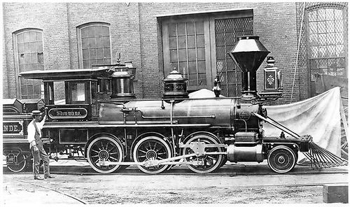 D&amp;RG locomotive #3 &quot;Shouwano&quot;. Baldwin Locomotive Works #02.<br /> D&amp;RG  Philadelphia ?, PA  1871