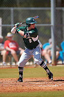 Michigan State Spartans designated hitter Marty Bechina (2) at bat during a game against the Illinois State Redbirds on March 8, 2016 at North Charlotte Regional Park in Port Charlotte, Florida.  Michigan State defeated Illinois State 15-0.  (Mike Janes/Four Seam Images)