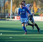 UTRECHT -   Ties Ceulemans (Kampong) tijdens  de hoofdklasse hockeywedstrijd mannen, Kampong-Amsterdam (4-3).  COPYRIGHT KOEN SUYK