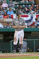 May 15, 2010  Infielder Rawley Bishop of the Lakeland Flying Tigers during a game vs. the Tampa Yankees at Joker Marchant Stadium in Lakeland, Florida. Lakeland wore camouflage jerseys for Military Night. Photo By Mark LoMoglio/Four Seam Images