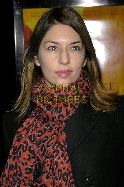"SOFIA COPPOLA.New York premiere of ""The Namesake"" at Chelsea West Cinemas, New York, New York, USA..March 6th, 2007.headshot portrait scarf black red copolla coppolla.CAP/ADM/BL.©Bill Lyons/AdMedia/Capital Pictures *** Local Caption ***"