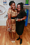 Kimberly Wilson Marshall, of Wilson Marshall public relations, posing with guest during the African Health Now - Fashion Fete event, at the Tracy Reese store on 641 Hudson Street, June 20, 2013.