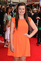 "Charlotte Jaconelli arriving for the premiere of ""Pudsey the Dog the movie"" at the Vue cinema, Leicester Square, London. 13/07/2014 Picture by: Steve Vas / Featureflash"
