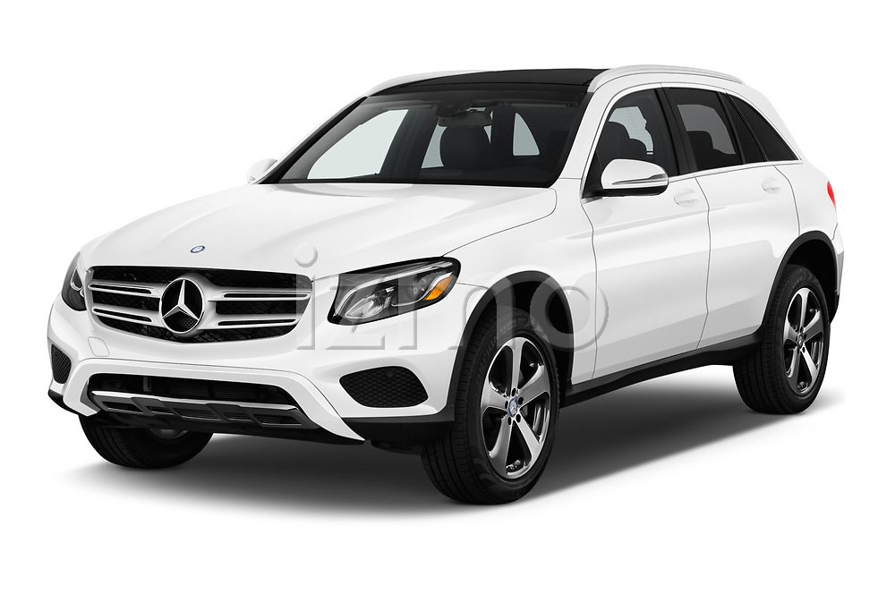 2018 Mercedes Benz GLC-Class 300 5 Door SUV angular front stock photos of front three quarter view