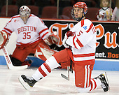 Adam Clendening (BU - 5) - The Boston University Terriers defeated the visiting Providence College Friars 6-1 on Friday, January 20, 2012, at Agganis Arena in Boston, Massachusetts.