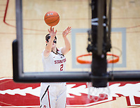 STANFORD, CA - February 22, 2019: Shannon Coffee at Maples Pavilion. The Stanford Cardinal defeated the Arizona Wildcats 56-54.