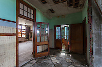 Inside view of an abandoned school in Park, KS