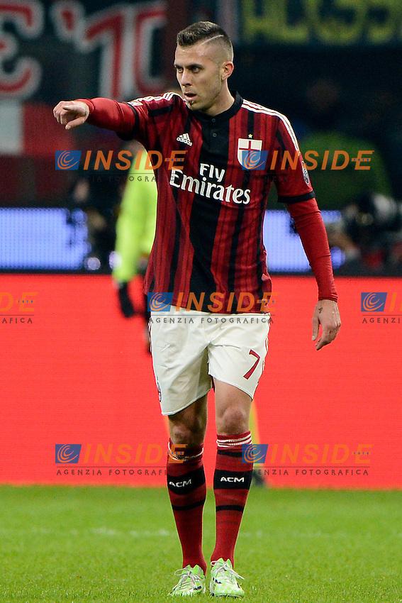 Esultanza gol di Jeremy Menez Milan 1-0. Celebration goal<br /> Milano 23-11-2014 Stadio Giuseppe Meazza - Football Calcio Serie A Milan - Inter. Foto Giuseppe Celeste / Insidefoto