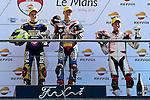 Le Mans GP de France<br /> Monster Energy Grand Prix de France during the world championship 2014.<br /> 16-05-2014<br /> CEV Repsol_Moto3 Race<br /> gabriel rodrigo<br /> fabio quartararo<br /> hiroki ono<br /> PHOTOCALL3000/RM