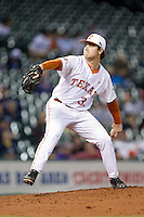 Texas Longhorns starting pitcher Dillon Peters (32) in action against the Rice Owls at Minute Maid Park on February 28, 2014 in Houston, Texas.  The Longhorns defeated the Owls 2-0.  (Brian Westerholt/Four Seam Images)