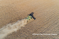 63801-13612 Harvesting soybeans in fall-aerial  Marion Co. IL