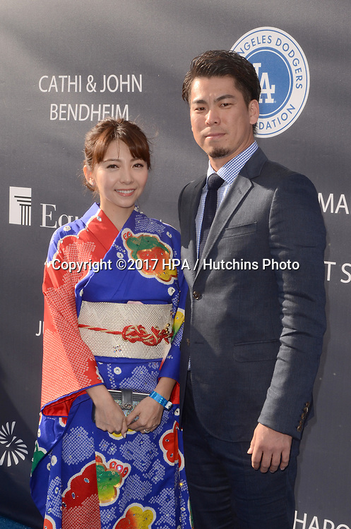 LOS ANGELES - JUN 8:  Guest, Kenta Maeda at the Los Angeles Dodgers Foundations 3rd Annual Blue Diamond Gala at the Dodger Stadium on June 8, 2017 in Los Angeles, CA