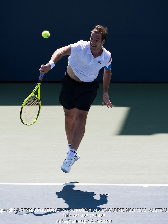 RICHARD GASQUET (FRA)<br /> <br /> TENNIS - THE US OPEN - FLUSHING MEADOWS - NEW YORK - ATP - WTA - ITF - GRAND SLAM - OPEN - NEW YORK - USA - 2016  <br /> <br /> <br /> <br /> &copy; TENNIS PHOTO NETWORK