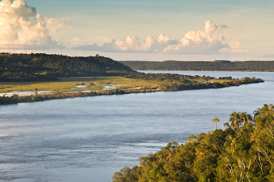 View of the Rio Parana from Parque Teyu-Cuaray, San Ignacio, Misiones, Argentina.