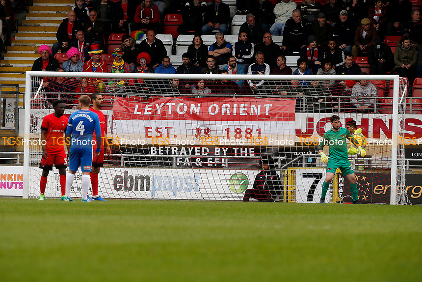 O's fans protest during Leyton Orient vs Hartlepool United, Sky Bet EFL League 2 Football at the Matchroom Stadium on 17th April 2017