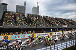 The peloton in action during the Tour de France Saitama Critérium 2017 held around the streets os Saitama, Japan. 4th November 2017.<br /> Picture: ASO/Pauline Ballet | Cyclefile<br /> <br /> <br /> All photos usage must carry mandatory copyright credit (© Cyclefile | ASO/Pauline Ballet)