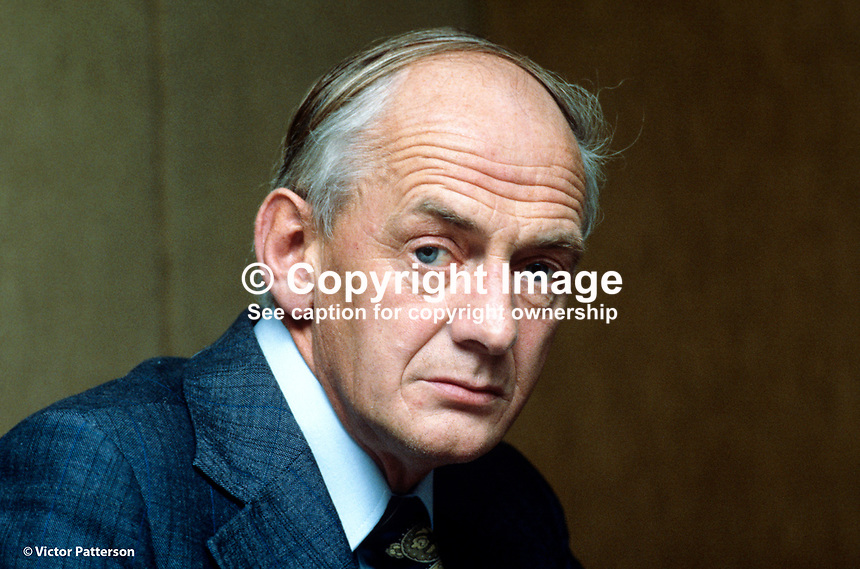 Bernard J Breen, secretary and general manager, Central Bank of Ireland, Dublin, 1978110305/C..Copyright Image from Victor Patterson, 54 Dorchester Park, Belfast, UK, BT9 6RJ..Tel: +44 28 9066 1296.Mob: +44 7802 353836.Voicemail +44 20 8816 7153.Skype: victorpattersonbelfast.Email: victorpatterson@mac.com.Email: victorpatterson@ireland.com (back-up)..IMPORTANT: If you wish to use this image or any other of my images please go to www.victorpatterson.com and click on the Terms & Conditions. Then contact me by email or phone with the reference number(s) of the image(s) concerned.