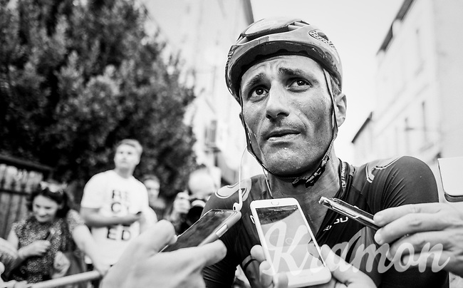 Daniele Bennati  (ITA/Movistar) interviewed after the stage<br /> <br /> 104th Tour de France 2017<br /> Stage 19 - Embrun &rsaquo; Salon-de-Provence (220km)