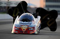May 29, 2009; Topeka, KS, USA: NHRA funny car driver Jack Wyatt during qualifying for the Summer Nationals at Heartland Park Topeka. Mandatory Credit: Mark J. Rebilas-