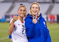 , FL - : Lynn Williams #27 and Abby Dahlkemper #7 of the United States pose during a game between  at  on ,  in , Florida.