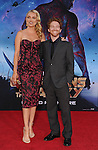 HOLLYWOOD, CA- JULY 21: Actors Seth Green (R) and Clare Grant arrive at the Los Angeles premiere of Marvel's 'Guardians Of The Galaxy' at the El Capitan Theatre on July 21, 2014 in Hollywood, California.