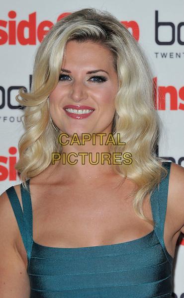 Sarah Jayne Dunn.The Inside Soap Awards 2012, One Marylebone, London, England..September 24th, 2012.headshot portrait green teal .CAP/WIZ.© Wizard/Capital Pictures.