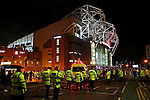 A heavier then usual police presence outside the stadium before the UEFA Europa League match at Old Trafford, Manchester. Picture date: November 24th 2016. Pic Matt McNulty/Sportimage