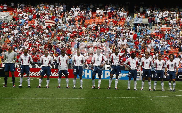 USA Men's team, Uruguay vs USA, 2002.