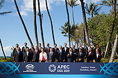 United States President Barack Obama and world leaders pose during the Asia-Pacific Economic Cooperation (APEC) family photo session at the J.W. Marriott Hotel in Honolulu, Hawaii on Sunday, November 13, 2011.  From left to right, front row: President Susilo Bambang of Indonesia; President Hu Jintao of China; Prime Minister Stephen Harper of Canada; Prime Minister Julia Gillard of Australia; President Dmitry Medvedev of Russia; President Obama; Prime Minister Yoshihiko Noda of Japan; Sultan of Brunei Hassanal Bolkiah;  President Sebastián Piñera of Chile; and Hong Kong Chief Executive Donald Tsang. From left to right back row: Deputy Prime Minister Kittirat Na-Ranong of Thailand, Prime Minister Lee Hsien Loong of Singapore; President Ollanta Humala of Peru; Deputy Prime Minister Bill English of New Zealand; Prime Minister Najib Razak of Malaysia; President Lee Myung-Bak of South Korea; Trade Minister Bruno Ferrari of Mexico; Prime Minister Peter O'Neill of Papua New Guinea; President Benigo Aquino III of the Philippines; Special Envoy Lien Chan of Taiwan; and President Truong Tan Sang of Vietnam..Credit: Kent Nishimura / Pool via CNP