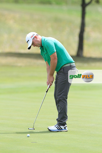 Marcus Fraser (AUS) on the 17th tee during Round 1 of the Open de Espana  in Club de Golf el Prat, Barcelona on Thursday 14th May 2015.<br /> Picture:  Thos Caffrey / www.golffile.ie