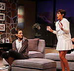 """As The World Turns' Colleen Zenk stars along with the cast - Brenda Withers  in """"Other Desert Cities"""" at the tech rehearsal (in costume) on October 14, 2015 at Whippoorwill Halll Theatre, North Castle Library, Kent Place, Armonk, New York.  (Photo by Sue Coflin/Max Photos)"""