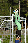 Soccer goalie save. Lycoming College.