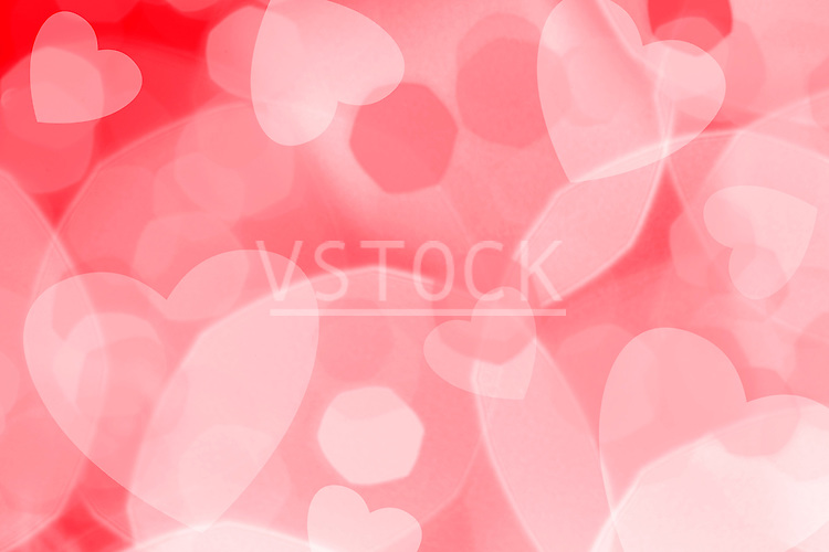 Red and pink heart pattern