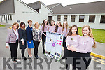 Presentation Secondary students are celebrating as they were this week named national winners of the AIB Build A Bank competition. Pictured front l-r were: Sadbh Kilgallen (Manager) and Ciara Boyd (Assistant Manager). Back l-r were: Noreen O'Grady (Teacher), Sarah Leahy (AIB), Mary O'Keeffe (Principal) and Chrissie Kelly (Deputy Principal), Michelle Doody (Innovation Executive), Jennifer Hanafin (Financial Controller) Cara Segal (Digital Officer) and Rebecca Poultry (Marketing Manager).