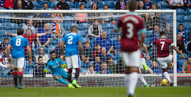 Andre Gray beats Wes Foderingham from the penalty spot