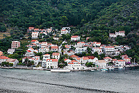 Waterfront village along the Bay of Kotor, Montenegro