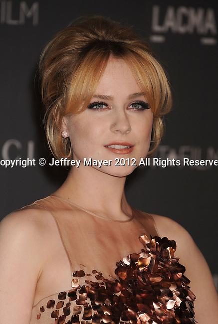 LOS ANGELES, CA - OCTOBER 27: Evan Rachel Wood arrives at LACMA Art + Film Gala at LACMA on October 27, 2012 in Los Angeles, California.