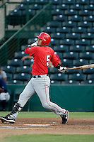 Freddy Sandoval - AZL Angels (2009 Arizona League)  - rehab appearance versus the AZL Brewers at Tempe Diablo Stadium - 08/09/2009.Photo by:  Bill Mitchell/Four Seam Images..
