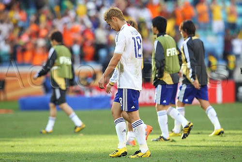 {c\C/Keisuke Honda (JPN), .JUNE 19, 2010 - Football : .2010 FIFA World Cup South Africa .Group Match -Group E- .between Netherlands 1-0 Japan .at Durban Stadium, Durban, South Africa. .