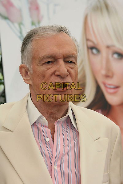 HUGH HEFNER.2007 Playmate of the Year Luncheon held at the Playboy Mansion,  Holmby Hills, California, USA, 03 May 2007..portrait headshot.CAP/ADM/RE.©Russ Elliot/AdMedia/Capital Pictures.