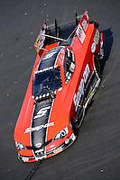 Sept. 15, 2012; Concord, NC, USA: NHRA funny car driver Cruz Pedregon during qualifying for the O'Reilly Auto Parts Nationals at zMax Dragway. Mandatory Credit: Mark J. Rebilas-